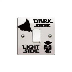 New Dark Light Side Vinyl Switch Sticker Fashion Accessories Vinyl Decal -