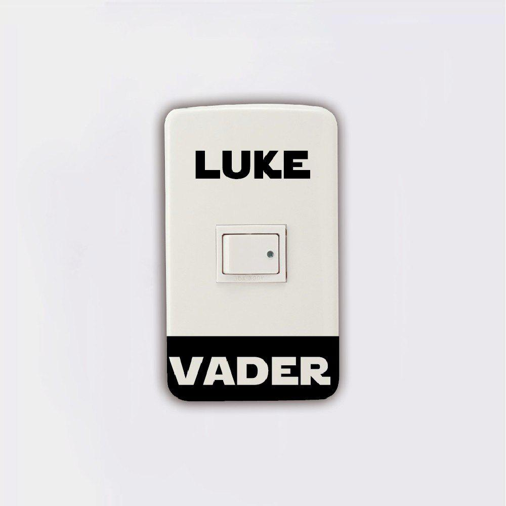 New Light Switch Sticker Darth Vader Luke Skywalker Vinyl Wall Mural Home Decor