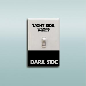 Dark Light Side Personality Switch Sticker Room Wall Decal -