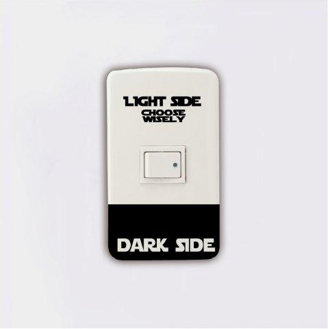 New Dark Light Side Personality Switch Sticker Room Wall Decal
