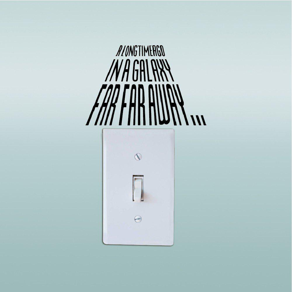 Shops Removable Mural Light Switch Sticker Vinyl Wall Decal Home Decor