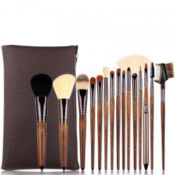 15pcs Makeup Brush Set High Quality Wooden Delicate Brushes -