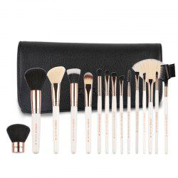 15 White Classic Makeup Brushes -