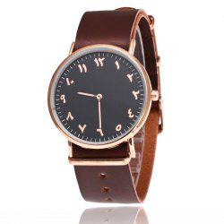 New  Fashion Rose Gold Super Thin Belt  Male Business Retro Quartz Watch -