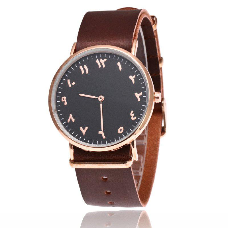 Best New  Fashion Rose Gold Super Thin Belt  Male Business Retro Quartz Watch