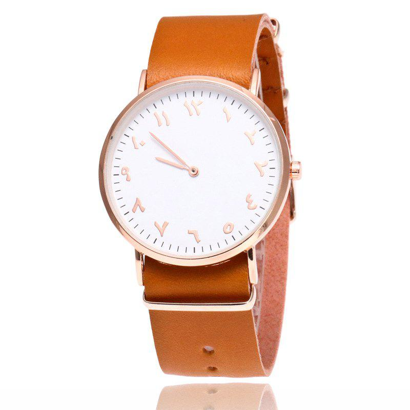 Nouvelle mode Rose Or Super Mince Ceinture Mâle Retro D'affaires Montre À Quartz