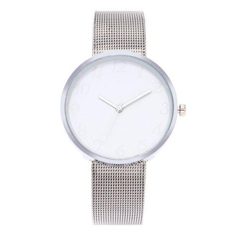 Online New Fashion Net With Black and White Quartz Watch