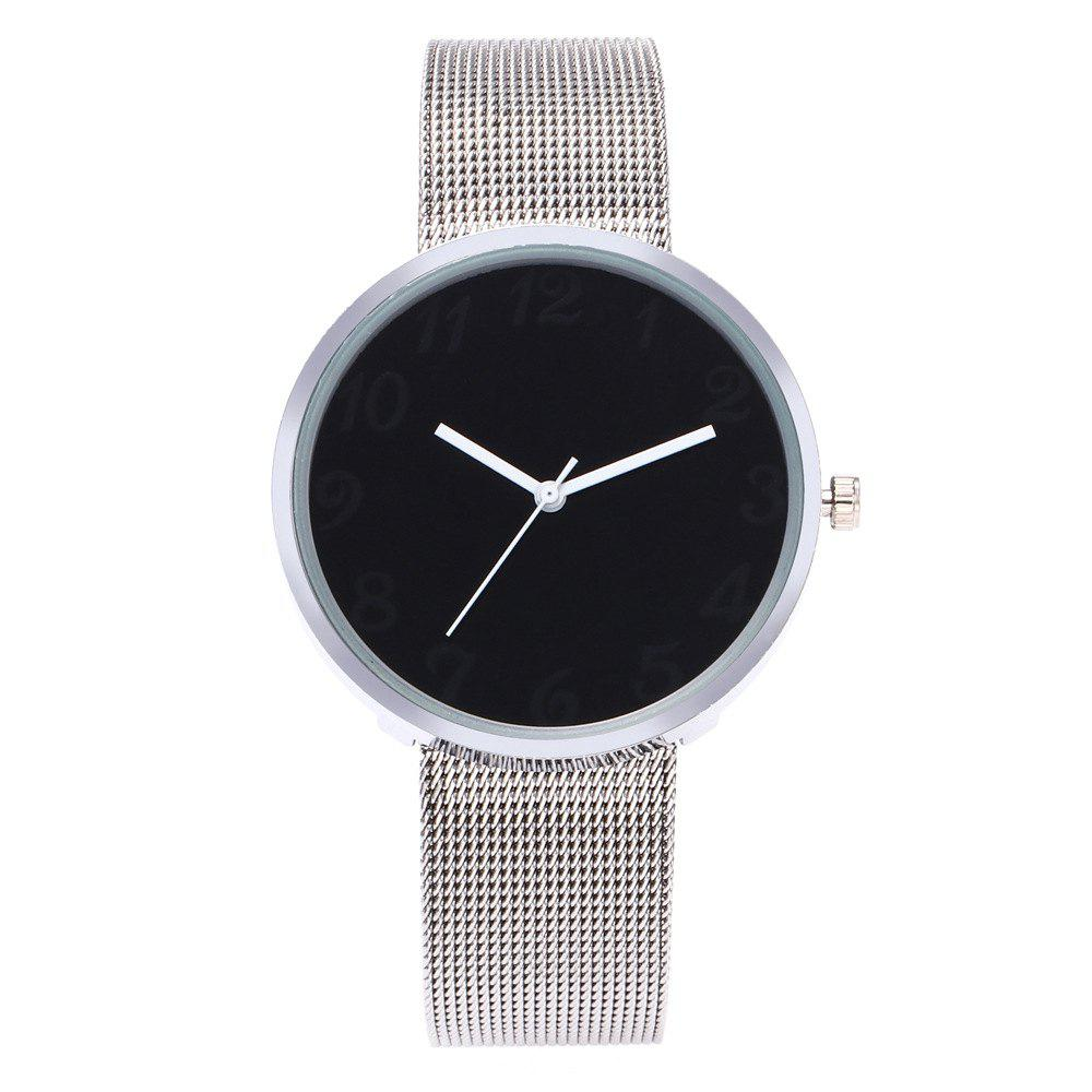Outfit New Fashion Net With Black and White Quartz Watch