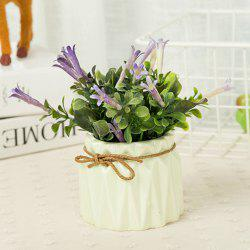 WX-B26 ornement de décoration de maison pastorale Morning Glory plante en pot -