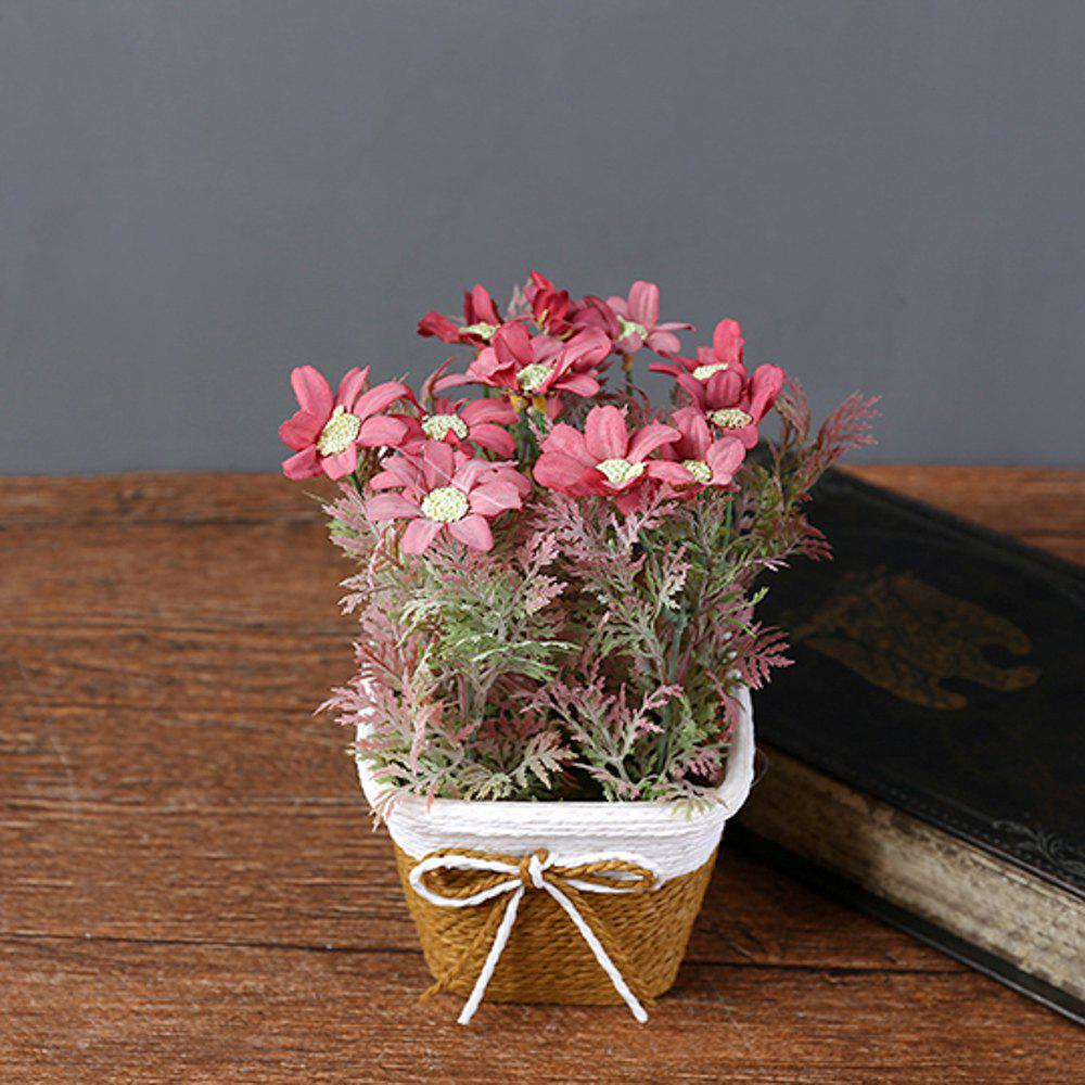 Trendy WX-C32 Rope Woven Square Bowl Potted Plant