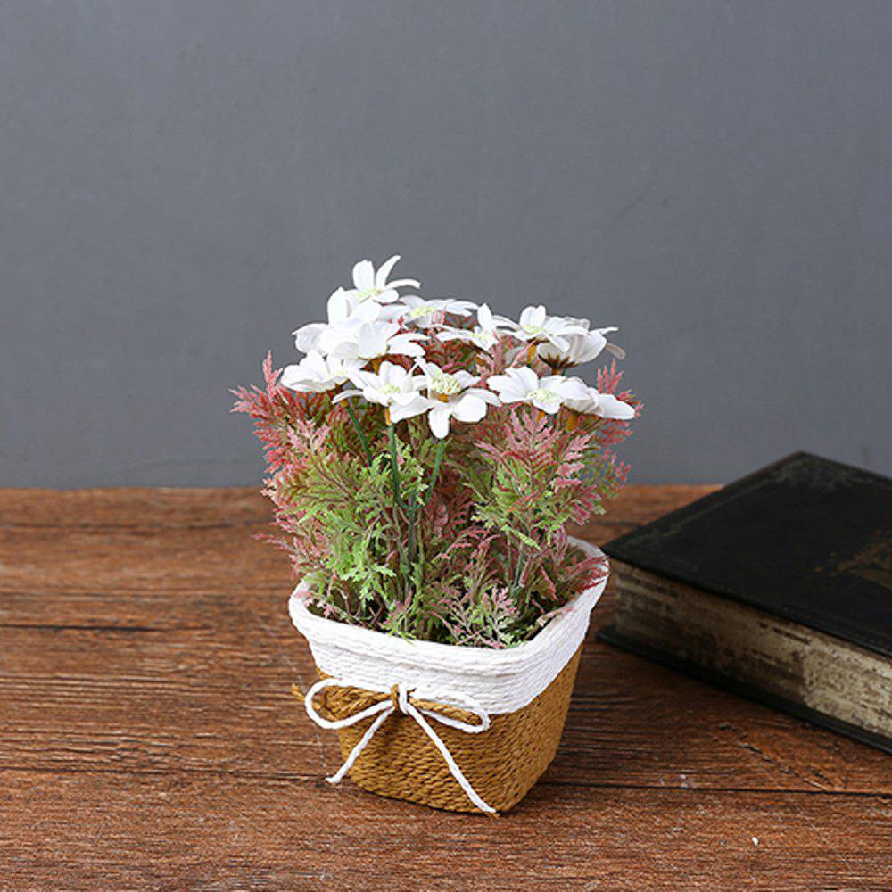 Chic WX-C32 Rope Woven Square Bowl Potted Plant