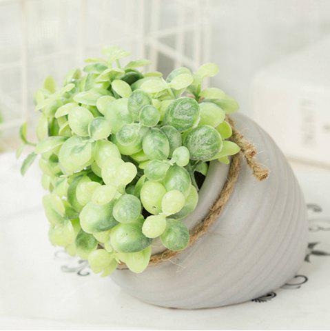 Cheap WX-C32-1726 Home Garden Decoration Ceramic Green Leaf Pot