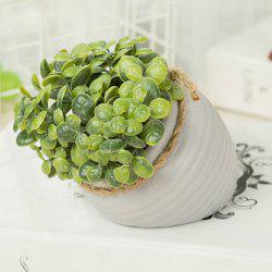 WX-C32-1726 Home Garden Decoration Ceramic Green Leaf Pot -