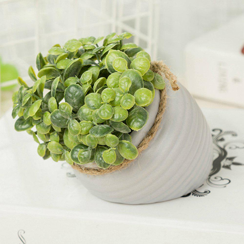 Unique WX-C32-1726 Home Garden Decoration Ceramic Green Leaf Pot