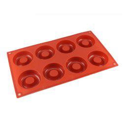 8 Hole Silicone Donut Mold Chocolate Fondant Cake Soap Biscuit DIY Baking Tool -