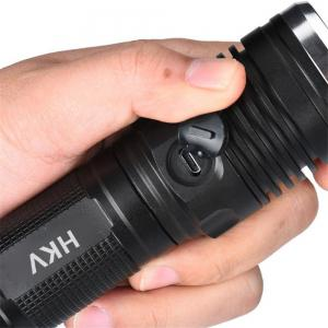 HKV USB Rechargeable 4 Modes Led Flashlights Chargeable Waterproof Torch -