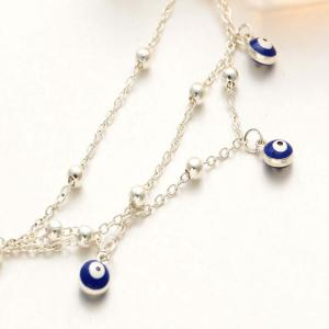 Silver new bohemian blue eyes pendant summer beach anklet chain new bohemian blue eyes pendant summer beach anklet chain accessories aloadofball Images
