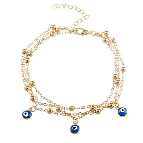 Hot New Bohemian Blue Eyes Pendant Summer Beach Anklet Chain Accessories