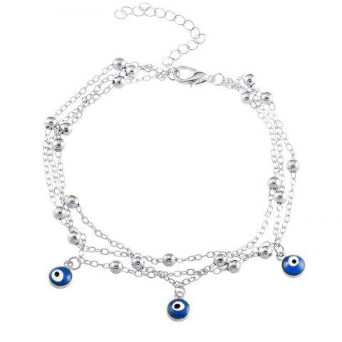 Outfit New Bohemian Blue Eyes Pendant Summer Beach Anklet Chain Accessories