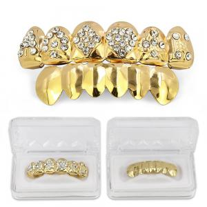 Dents de cartes de poker plaquées or 18K Hip Hop Grillz -