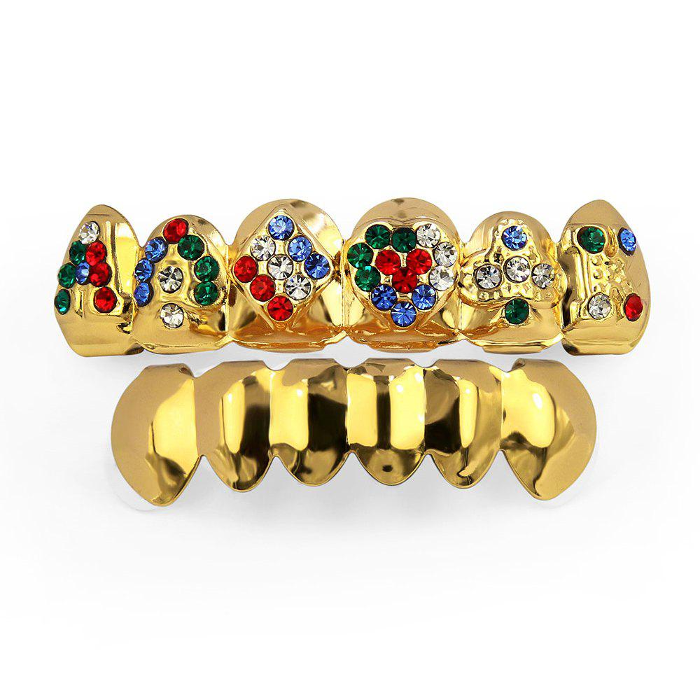 Dents de cartes de poker plaquées or 18K Hip Hop Grillz