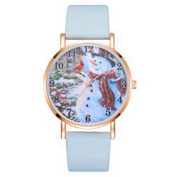 XR2495 Women Snowman Dial PU Leather Jewelry Wrist Watch -