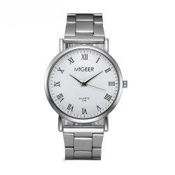 Migeer Fashion luxe en acier inoxydable cadeau Quartz Business Army Watch -