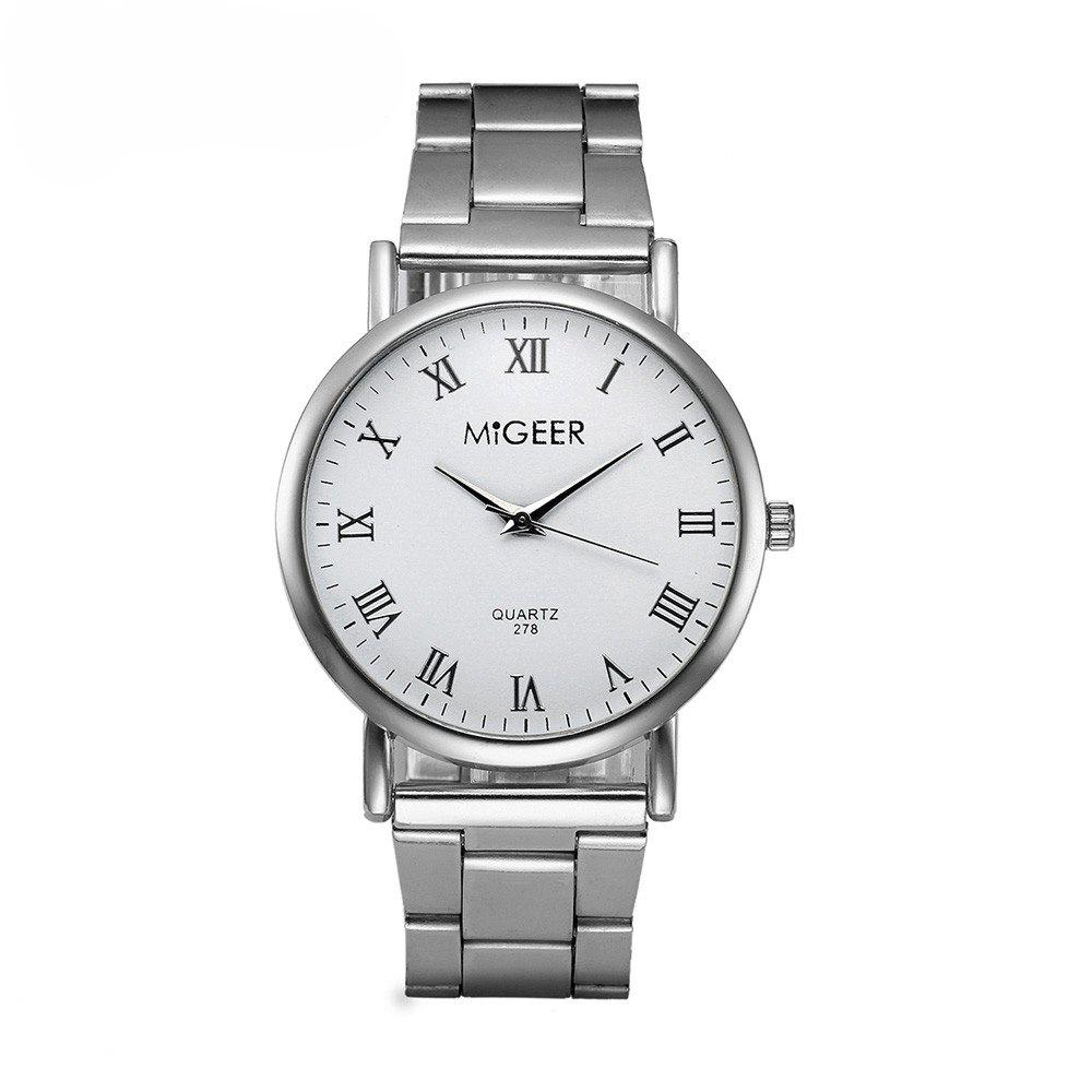 Sale Migeer Fashion Luxury Stainless Steel Quartz Gift Business Army Watch
