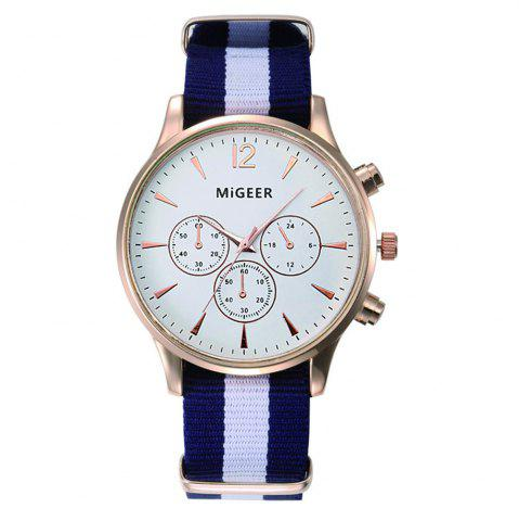 Shop MiGEER Mens Fashion Canvas Analog Quartz Watch