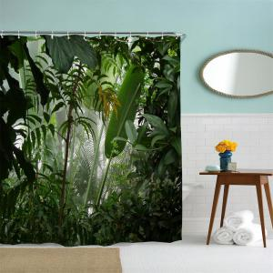 Misty Rainforest Water-Proof Polyester 3D Printing Bathroom Shower Curtain -