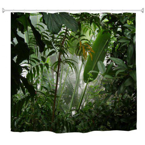 Buy Misty Rainforest Water-Proof Polyester 3D Printing Bathroom Shower Curtain