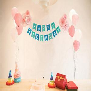 Happy Birthday Bunting Banner -