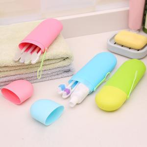 Candy-Colored Travel Cover with Wash Toothbrush Box -