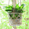 Hemp Cotton Rope Handmade Basket Four Legs Flower Pot Container Net Pocket -