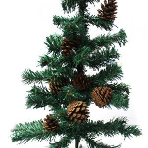 9PCS Christmas Tree Pine Cones Pendants Xmas New Year Holiday Party Decoration -