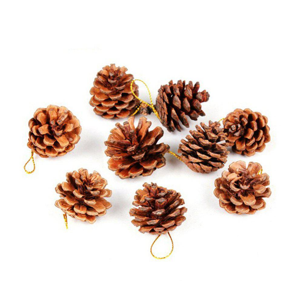 Best 9PCS Christmas Tree Pine Cones Pendants Xmas New Year Holiday Party Decoration