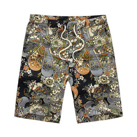 Store Men's Summer Vacation Drawstring Casual Beach Shorts