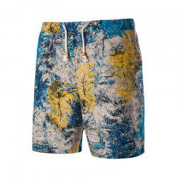 Men's Summer Vacation Drawstring Casual Beach Shorts -