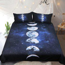 Moon Eclipse Changing Bedding  Duvet Cover Set Digital Print 3pcs -