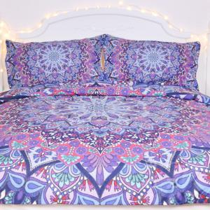 Purple Glowing Bedding  Duvet Cover Set Digital Print 3pcs -