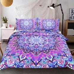 Purple Glowing Literie housse de couette Set Digital Print 3pcs -