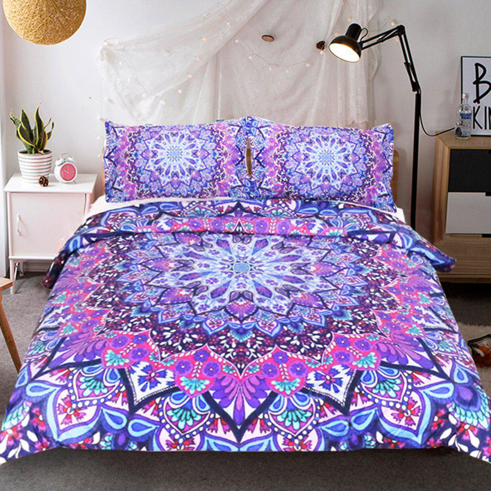 Purple Glowing Literie housse de couette Set Digital Print 3pcs