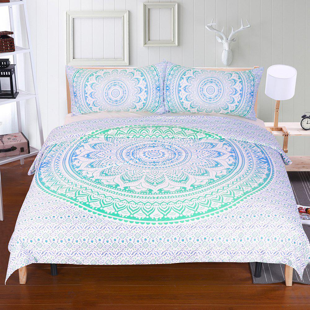 Fashion Floral Paisley Bedding  Duvet Cover Set Digital Print 3pcs