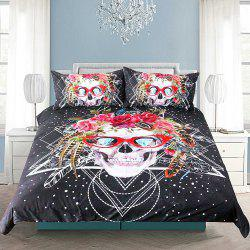 Skull Pattern Bedding housse de couette Set Digital Print 3pcs -