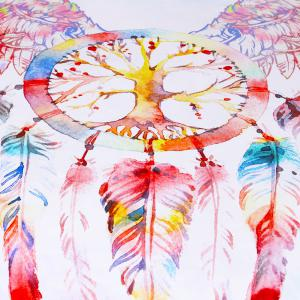Dreamcatcher Literie Set Plumes Housse de couette Set Digital Print 3pcs -