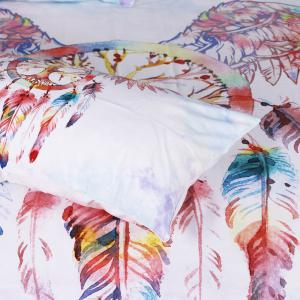 Dreamcatcher Bedding Set Feathers Duvet Cover Set Digital Print 3pcs -
