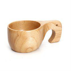 Natural Rubber Wood Coffee Cup -