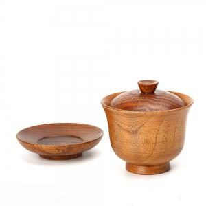 Creative Natural Wooden Teacup Suit -