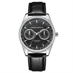 Hannah Martin HM-KY12 Fashion Casual Sport Men Waterproof Leather Quartz Watch -