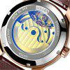 SOLLENSL-302  Hollow Engraving Leather Skeleton Mechanical Watches Men Luxury -